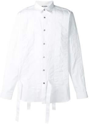 Jil Sander strap detail striped shirt