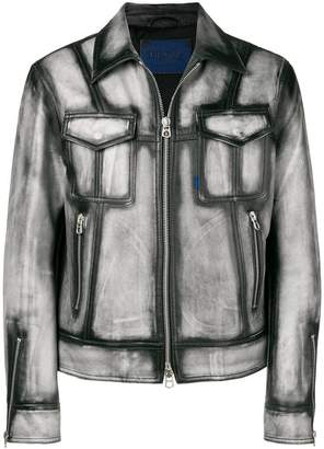 Drome faded leather jacket