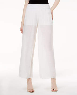 BCX Juniors' Sheer Wide-Leg Soft Pants