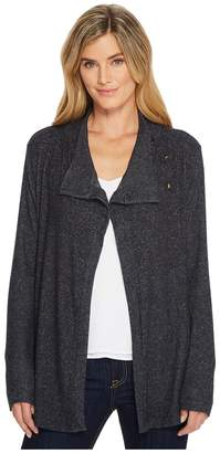 Bobeau B Collection by Button Collar Cozy Cardigan Women's Sweater