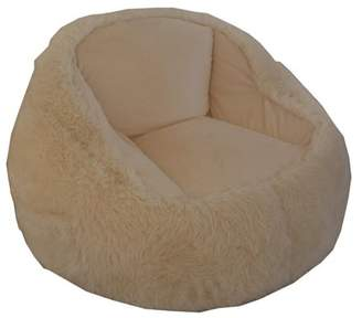 Generic Structured Tablet Fur Bean Bag Chair, Available in Multiple Colors