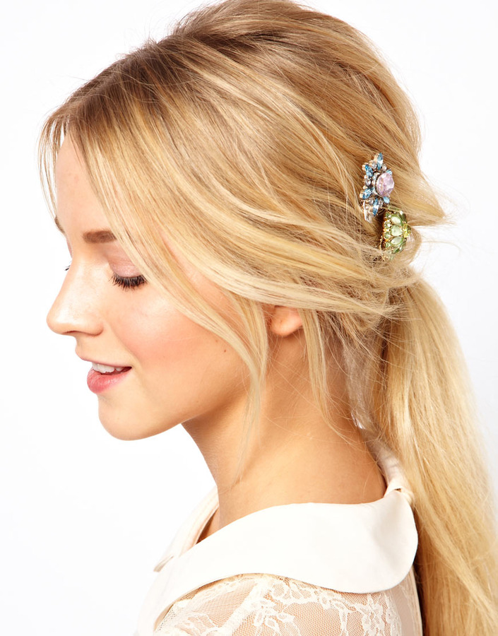 Asos Pack of Two Hair Brooches