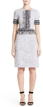 Women's St. John Collection Nita Tweed Sheath Dress $1,195 thestylecure.com