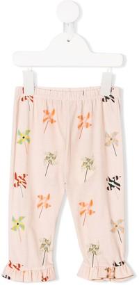 Fendi pinwheel print leggings