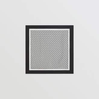 Burberry Monogram Print Silk Square Scarf