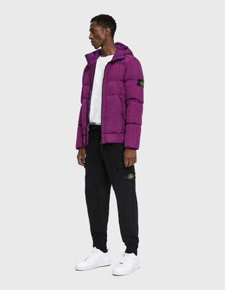 Stone Island Crinkle Reps Nylon Down Filled Hooded Jacket in Magenta