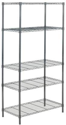 Safavieh Ceasar 5-Tier Chrome Wire Adjustable Rack