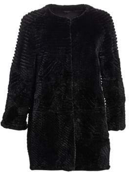 The Fur Salon Sheared Beaver Fur Jacket