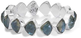 Stephen Dweck Faceted Aqua Quartz & Mother-of-Pearl Doublet Bracelet