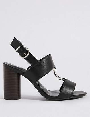 Marks and Spencer Wide Fit Block Heel Two Band Ring Sandals