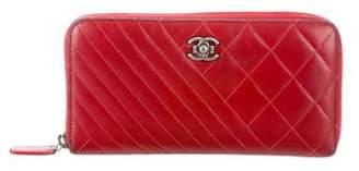 Chanel Coco Boy Zip Wallet