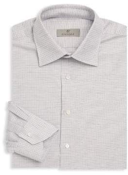 Canali Graphic Cotton Dress Shirt