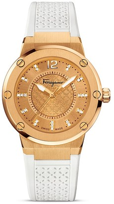 Salvatore Ferragamo F-80 Gold IP Stainless Steel Watch, 33mm $1,995 thestylecure.com