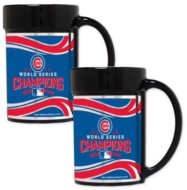 MLB Chicago Cubs World Series Champions 15 oz. Ceramic Mugs (Set of 2)