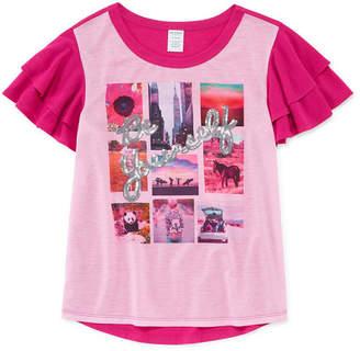 Arizona Ruffle Sleeve Sequin Top - Girls' 4-16 & Plus