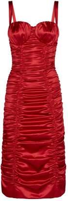 Dolce & Gabbana Ruched Bodycon Midi Dress