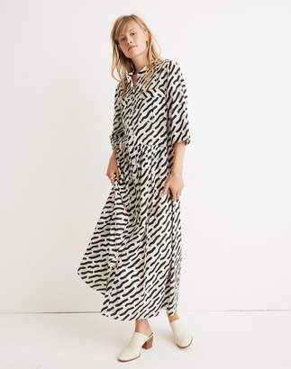 Madewell WHIT Lillian Maxi Dress in Mark Print on Plaid