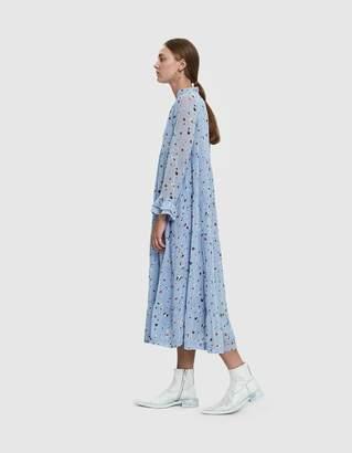Ganni Dainty Georgette Floral Print Dress