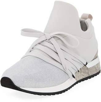 J/Slides Zorro Metallic Knit Sneakers
