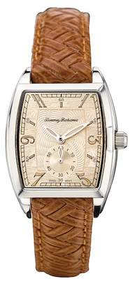 Tommy Bahama Women's Barrel Silver Tone Leather Watch