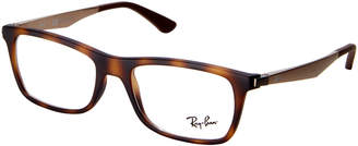 Ray-Ban RB7062 Tortoise Shell-Look Square Frames