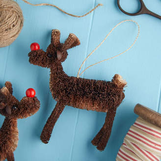 The Christmas Home Bristle Reindeer Christmas Decoration