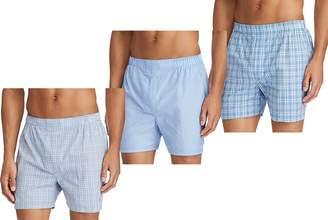 Ralph Lauren Polo Classic Fit 100% Cotton Woven Boxers 3 Pack Men's Underwear