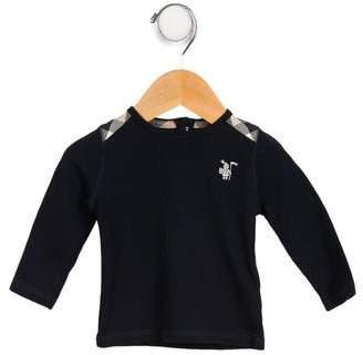 Burberry Boys' Nova Check-Accented Long Sleeve Shirt