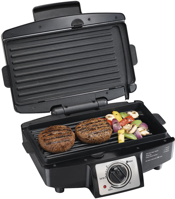 Hamilton Beach Easy-Clean Indoor Grill + Removable Grids
