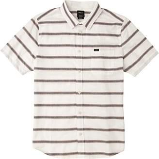 RVCA Men's Outer Sunset Short Sleeve Woven Button up Shirt