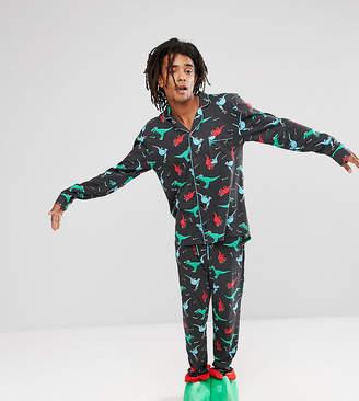 Chelsea Peers Holidays Pajamas in Dinosaur Print