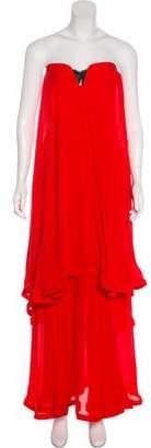 Nicholas Strapless Silk Dress