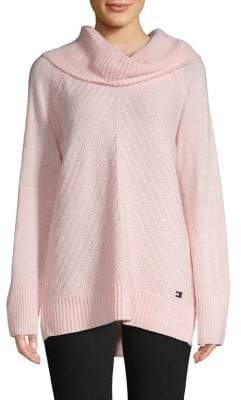 Tommy Hilfiger Cable-Knit Cowlneck Sweater