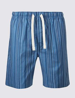Marks and Spencer Pure Cotton Striped Shorts