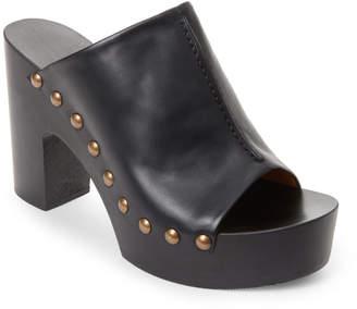 Veronique Branquinho Black Studded Platform Mules