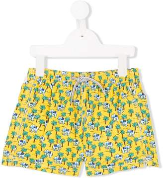 MC2 Saint Barth Kids Elephant print swim shorts