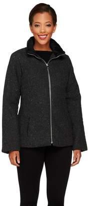 Isaac Mizrahi Live! Tweed Puffer Jacket
