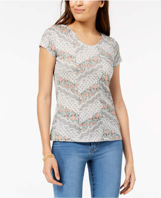 Style&Co. Style & Co Petite Cotton Printed T-Shirt, Created for Macy's