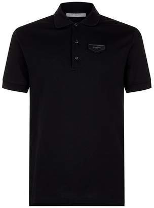 Givenchy Leather Logo Polo Shirt