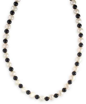 Effy 14K Yellow Gold Pearl and Onyx Necklace