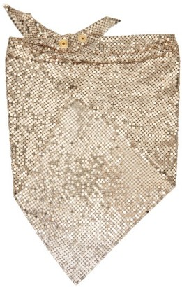 Paco Rabanne Crystal Embellished Chainmail Mesh Triangle Scarf - Womens - Gold