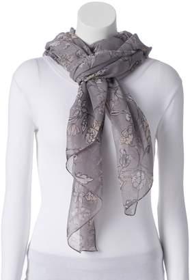 Lauren Conrad Women's Folk Blooms Oversized Wrap Scarf