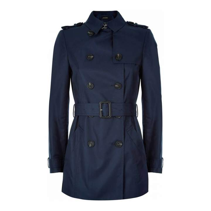 Navy Short Trench Coat