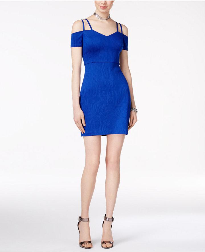 Guess Cold-Shoulder Sheath Dress