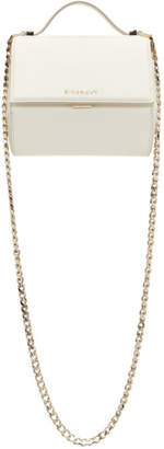 Givenchy White Mini Pandora Box Chain Bag