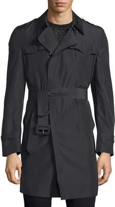 CNC Costume National Long-Sleeve Belted Rain Coat