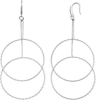 JLO by Jennifer Lopez Tiered Nickel Free Double Drop Hoop Earrings