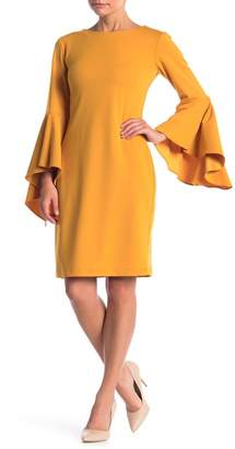 Marina Long Bell Sleeve Sheath Dress