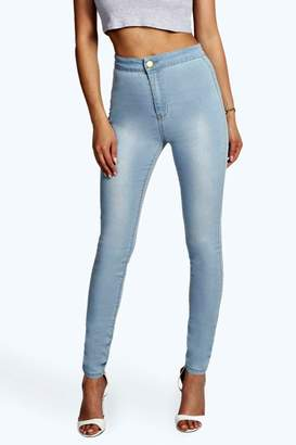 boohoo High Waist Tube Jeans