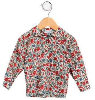 Papo d'Anjo Girls' Floral Long Sleeve Top
